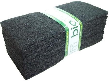 10 schwarze Normal Reinigungspads 25 cm