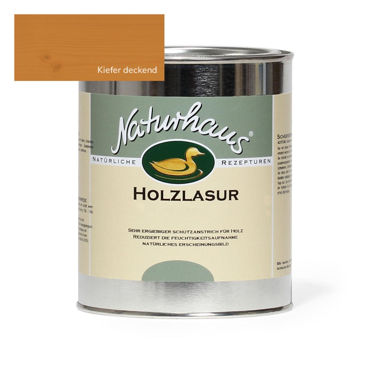 Top NATURHAUS Holzlasur für Außen Kiefer deckend   Naturhaus direkt XG26