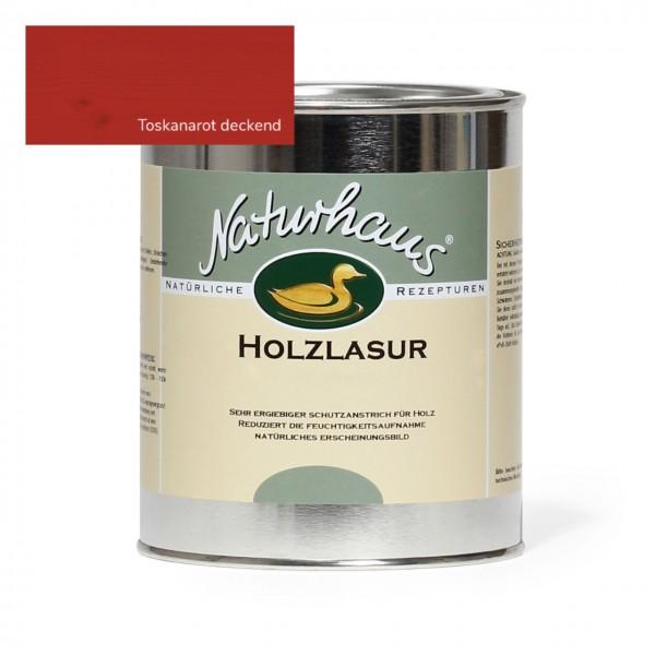 Holzlasur für Außen Toskanarot deckend