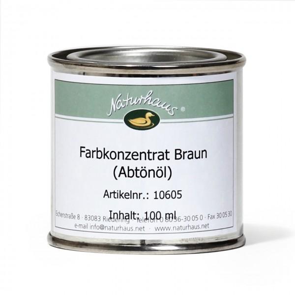 Farbkonzentrat für Öle (Abtönöl) Braun