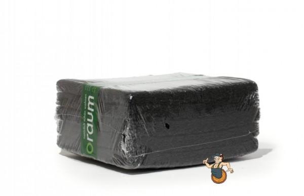 10 schwarze Super Reinigungspads 25 cm