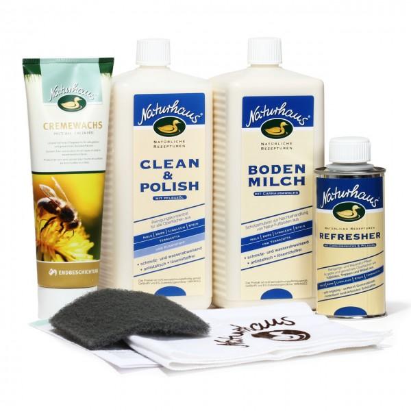 Reinigungs- und Pflegeset für Böden