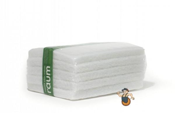 10 weiße Super Polierpads 25 cm