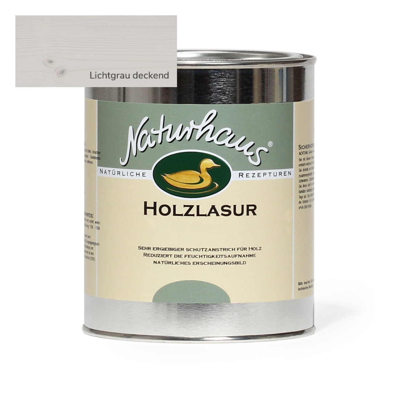 naturhaus holzlasur f r au en lichtgrau deckend naturhaus direkt. Black Bedroom Furniture Sets. Home Design Ideas